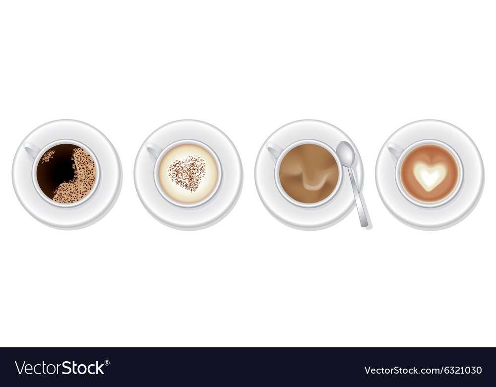 Coffee variations vector