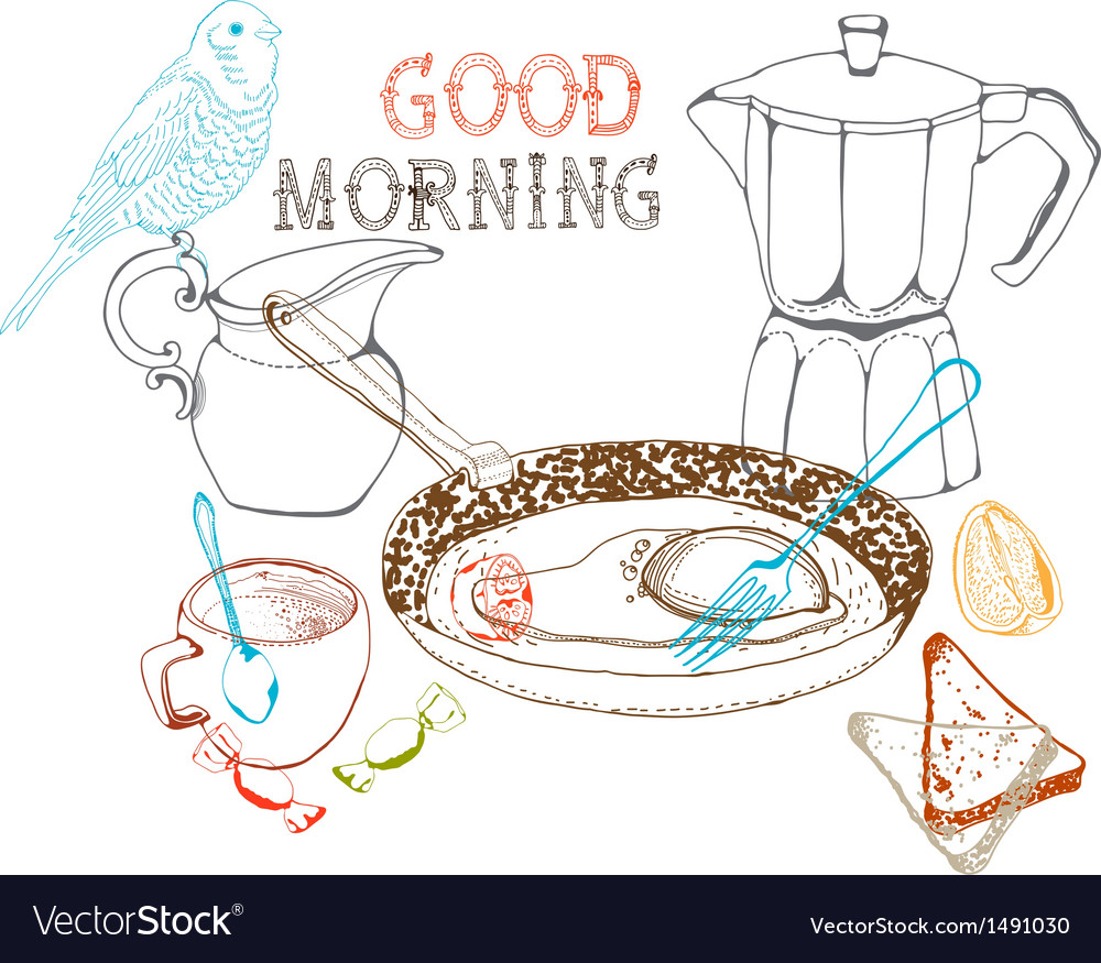 Good morning background vector