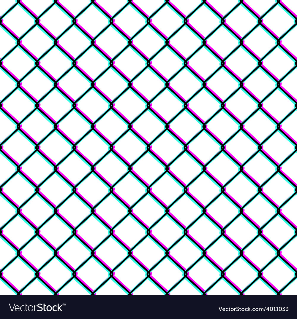 Chainlink fence seamless pattern vector