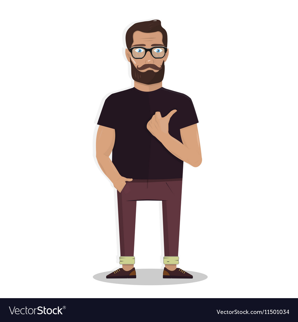 For the website of a man with beard vector