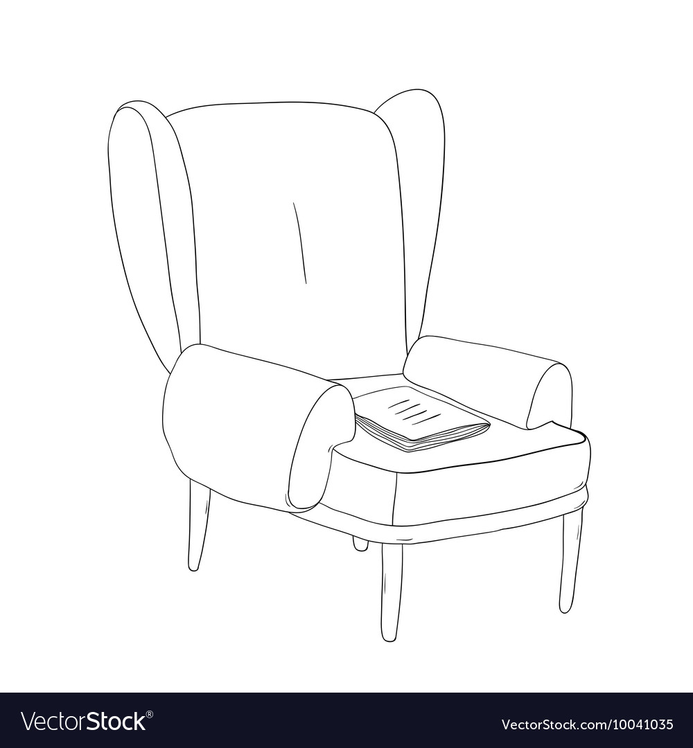 Beautiful vintage chair and notebook vector