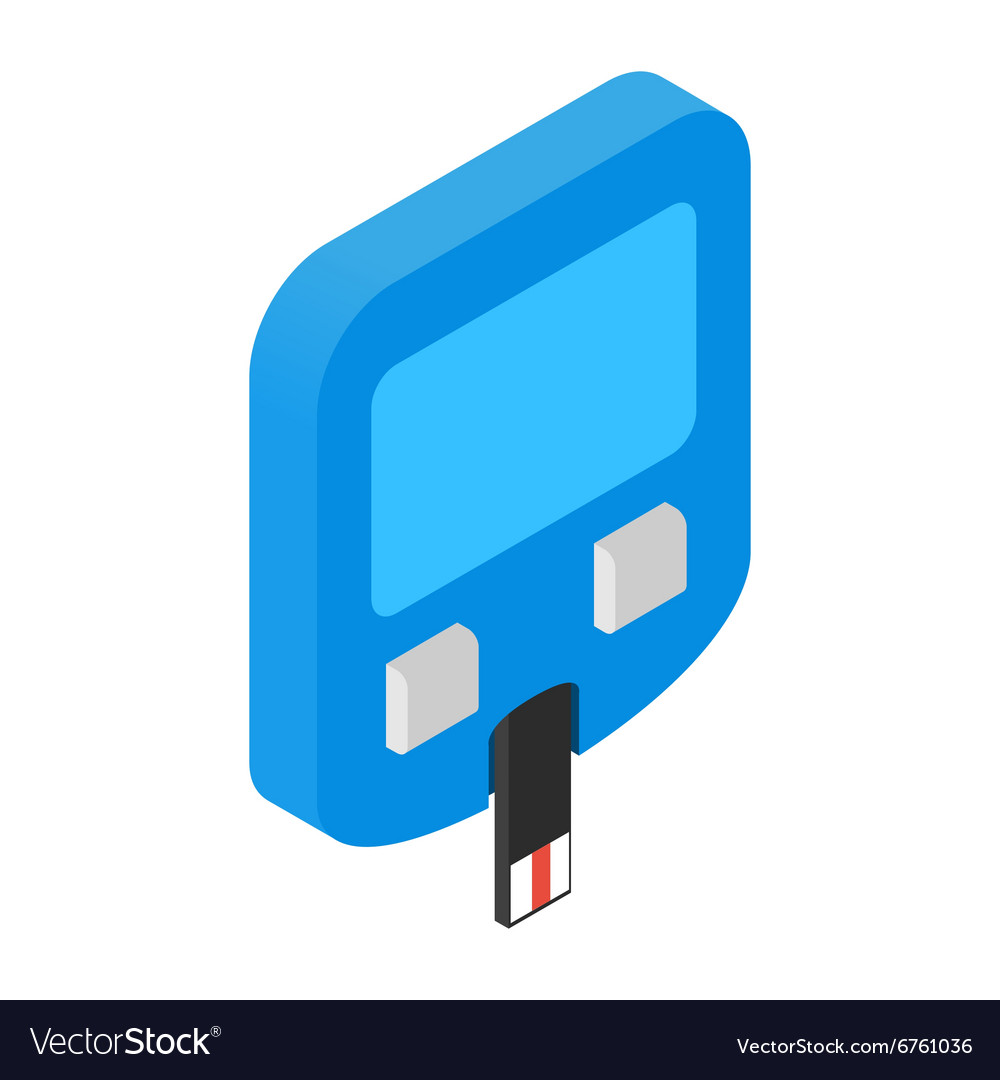 Home glucometer isometric 3d icon vector