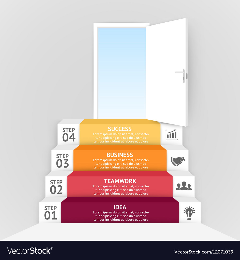 3d arrows infographic template for diagram vector