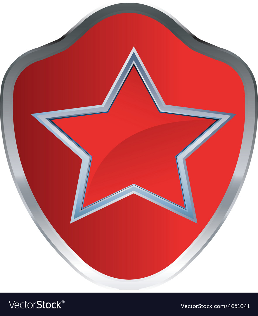 Red star amblem 1 resize vector