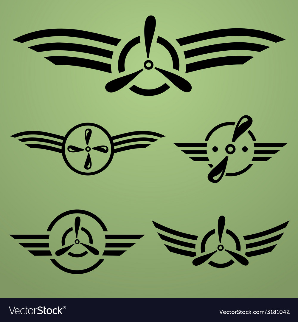 Airforce emblem set vector