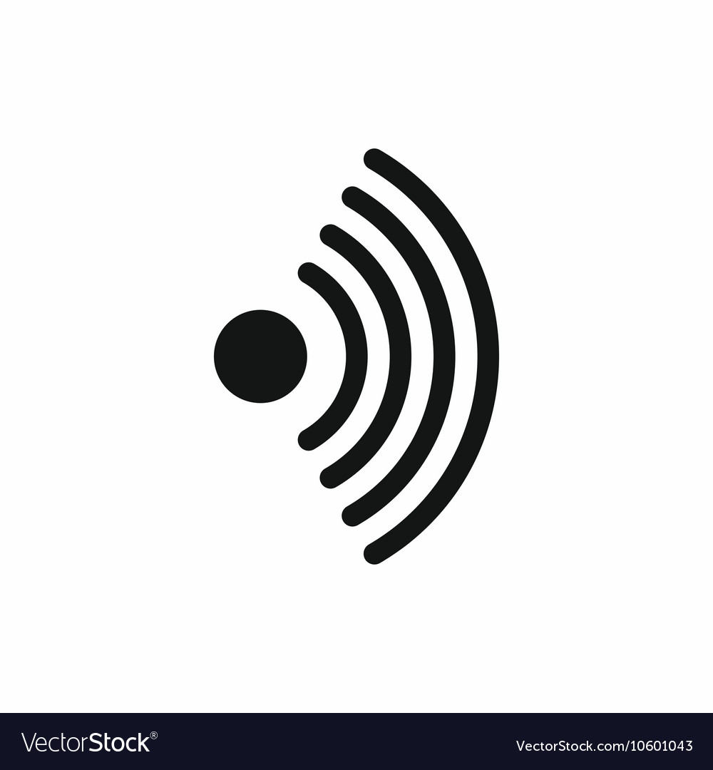 Wireless network symbol icon simple style vector