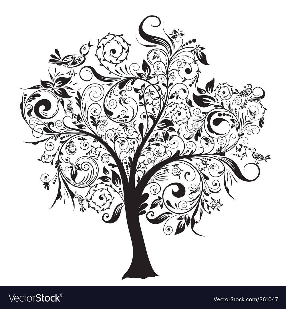 Decorative tree vector