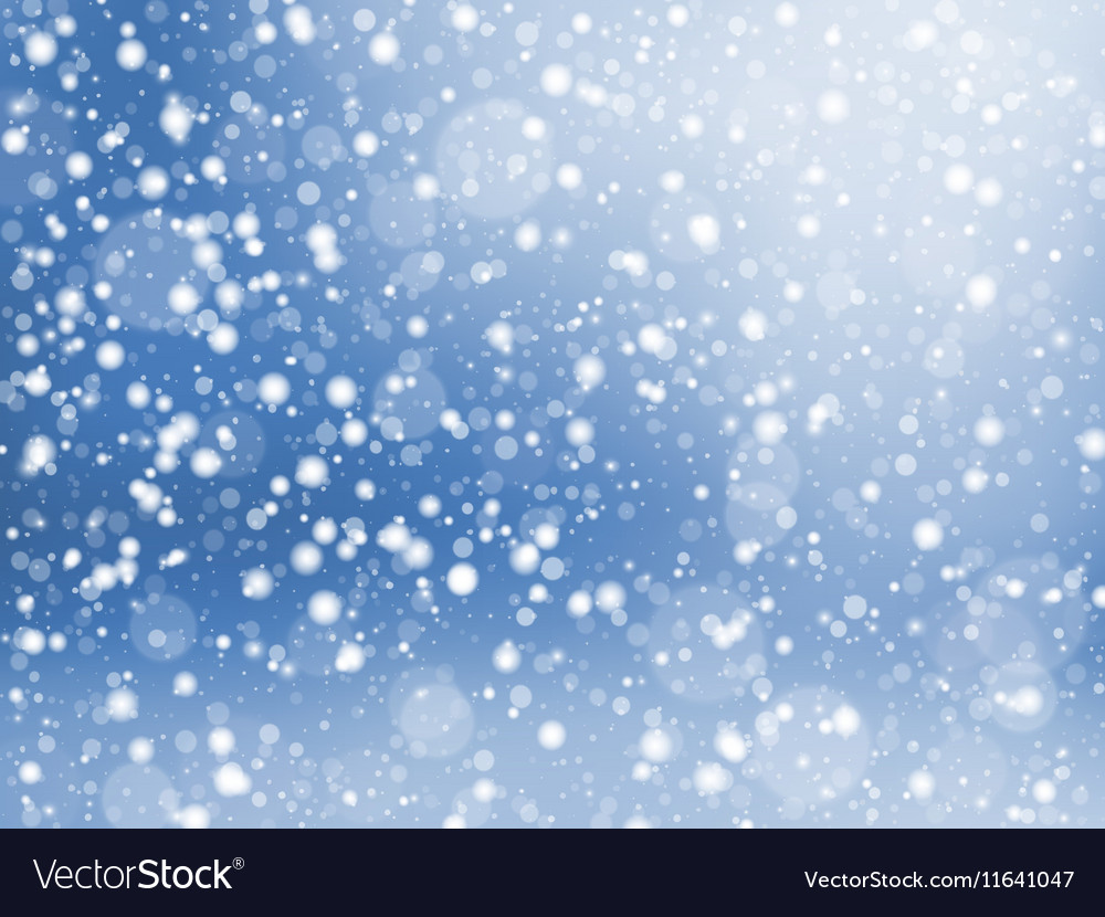 Falling snow texture winter festive background vector