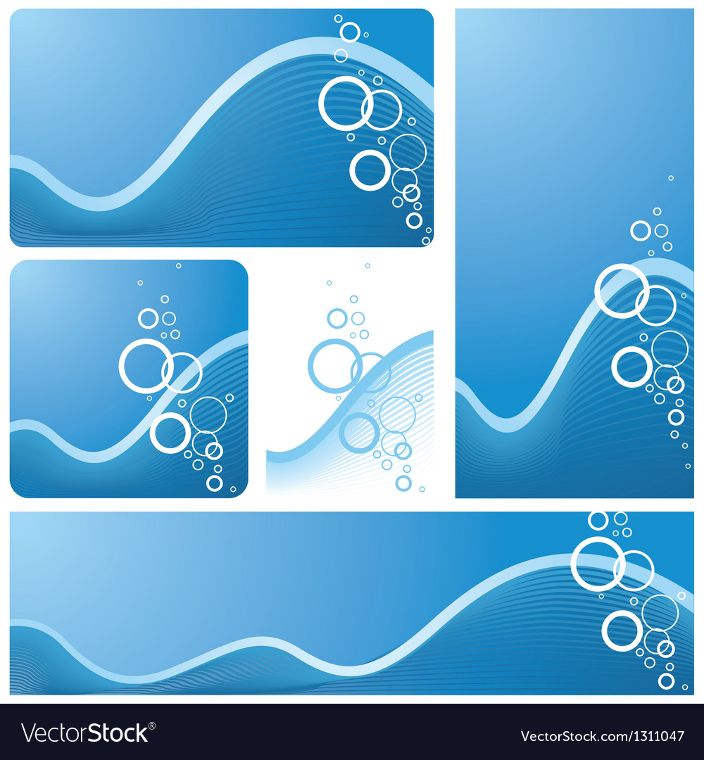Wave and bubbles vector