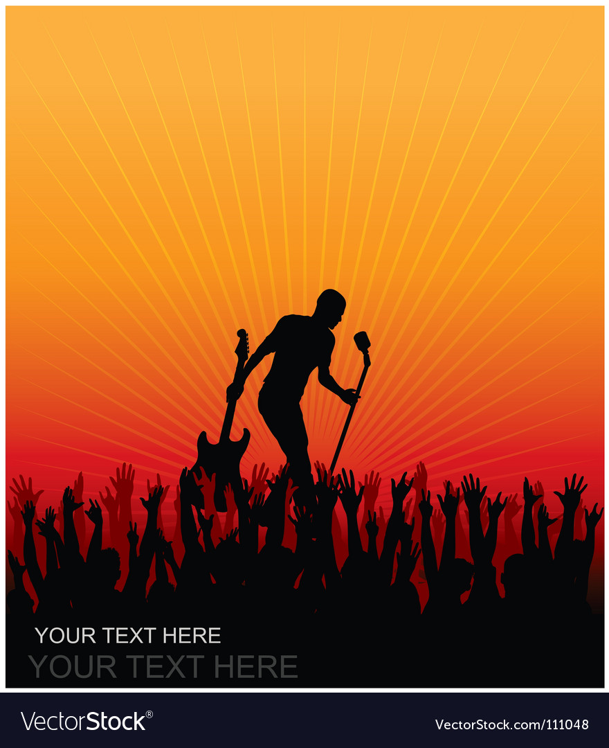 Concert cheering audience vector