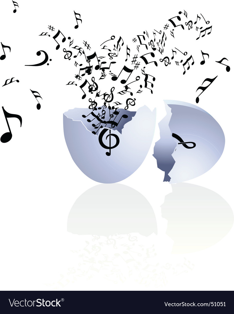 Musical egg vector
