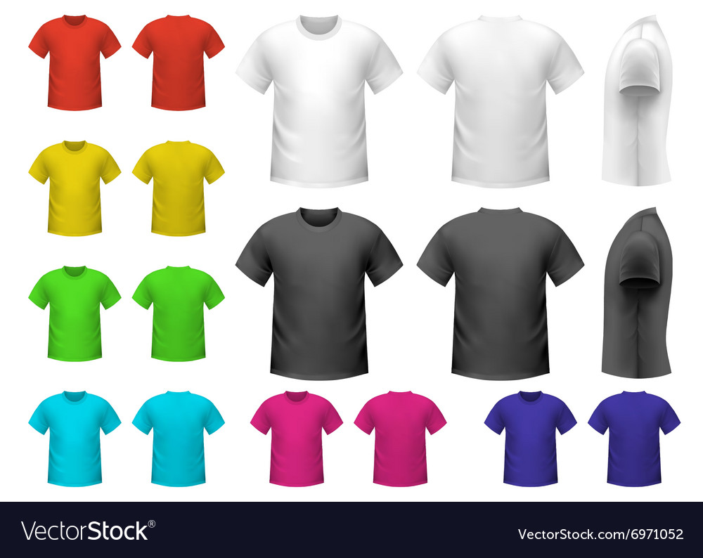 Colorful male tshirts vector