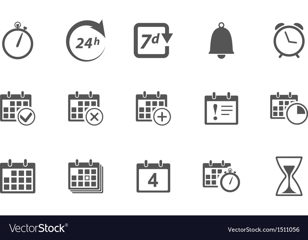 Time and calendar icons vector