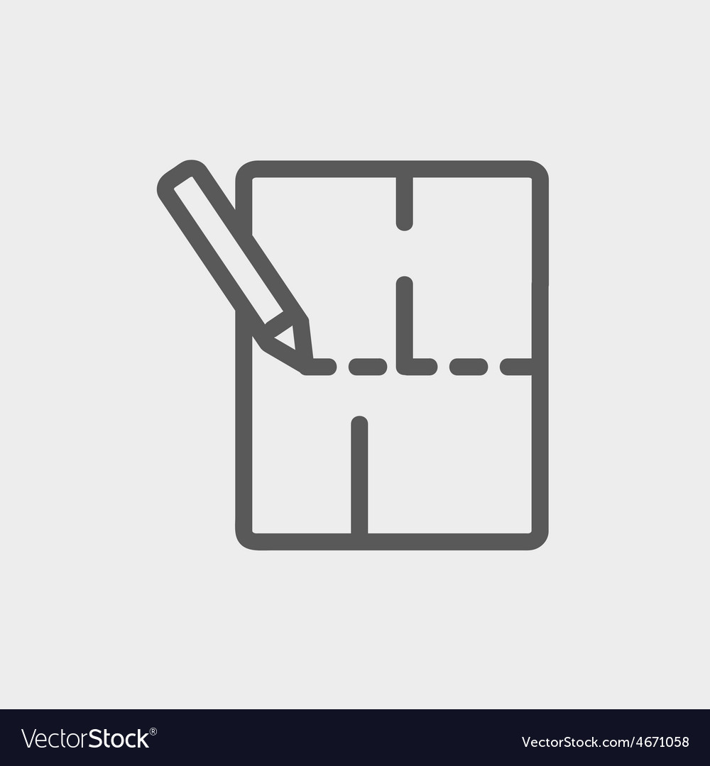 Background drawing with pencil thin line icon vector
