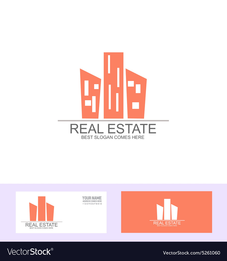 Real estate flat logo vector
