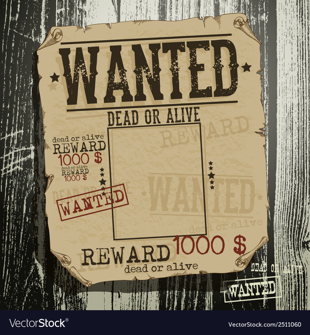 Wanted advertisement vector