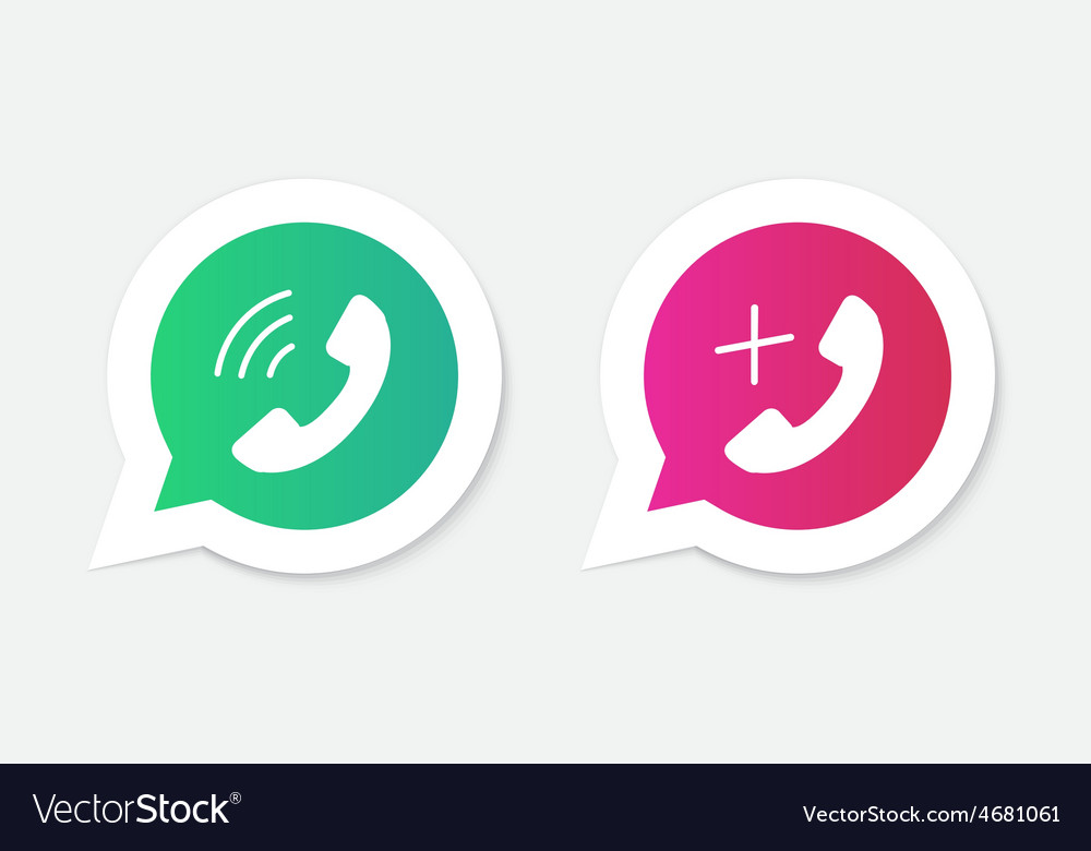 Phone handset icons in speech bubbles vector
