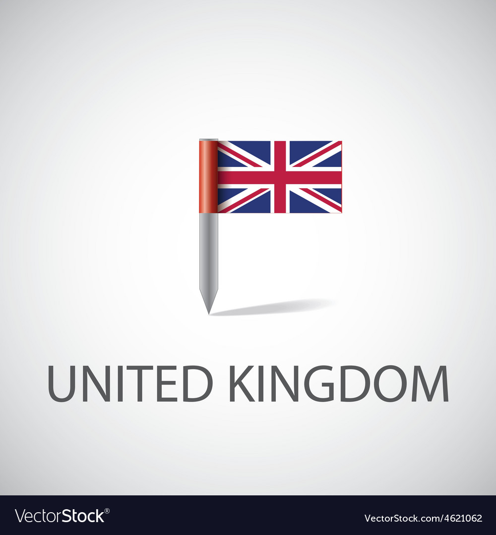 Uk flag pin vector