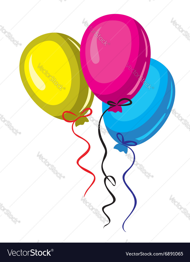 Color baloon vector
