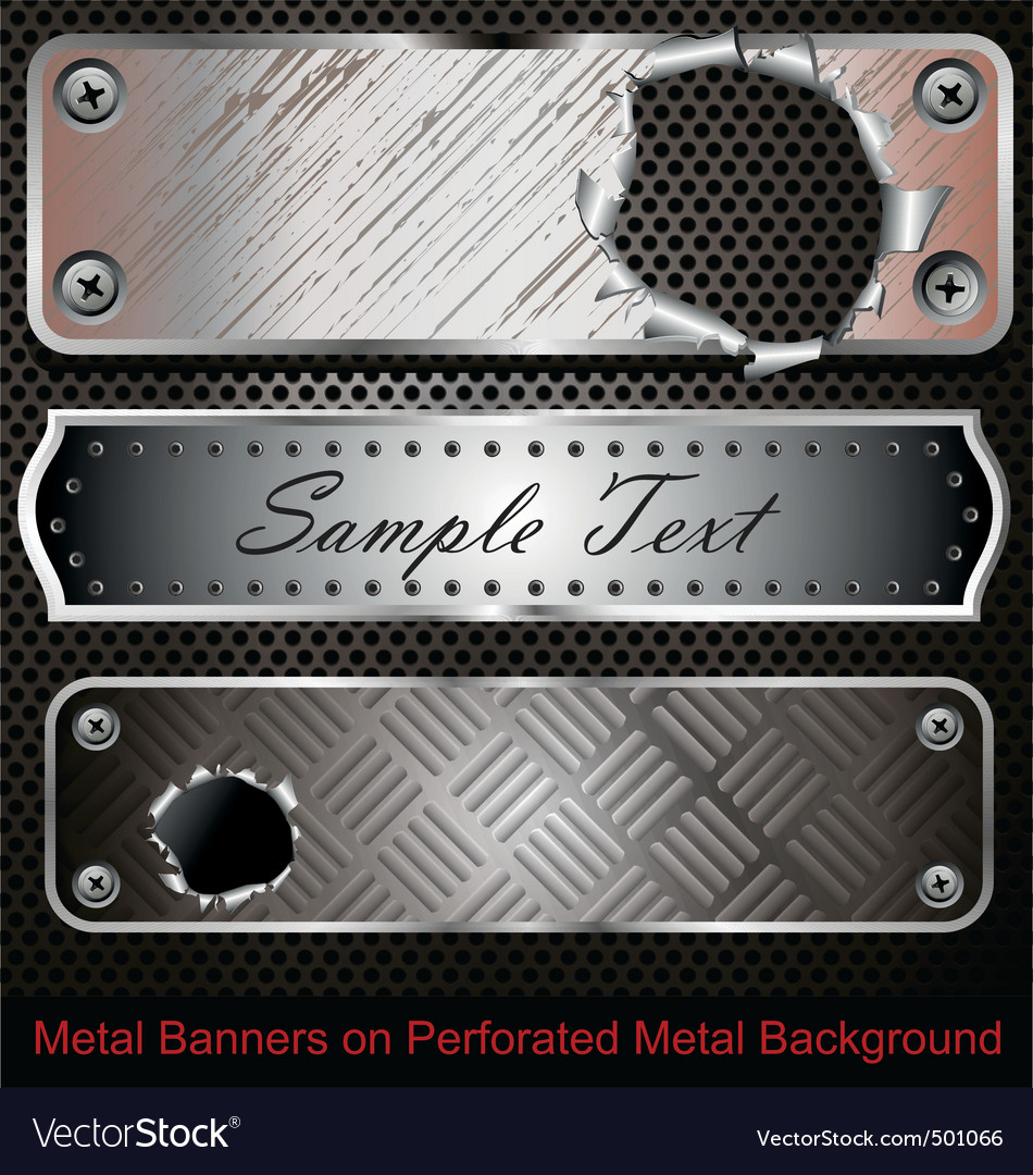 Metal banners vector