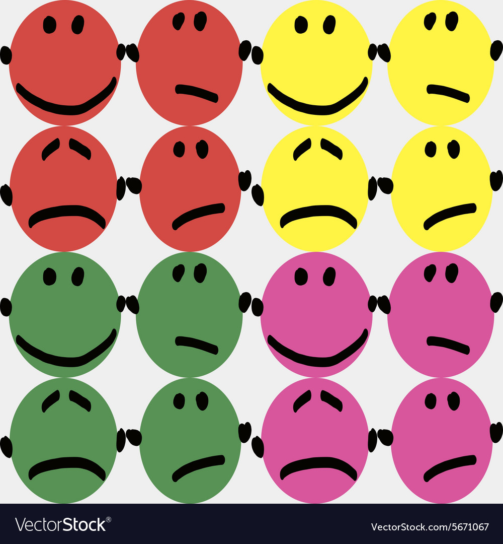 Colorful smileys vector