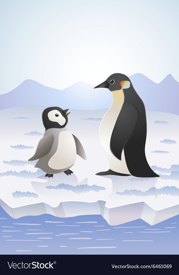 Arctic pinguins vector