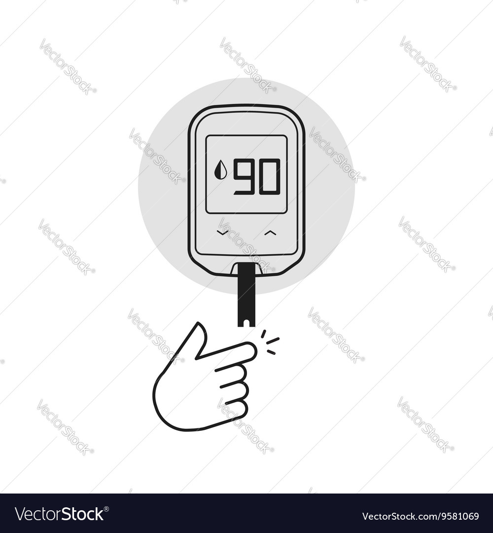 Glucometer isolated diabetes vector