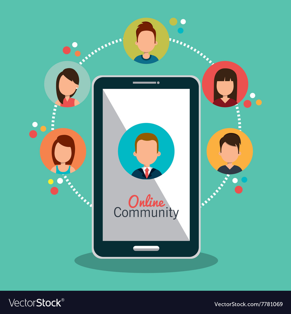 Online community design vector