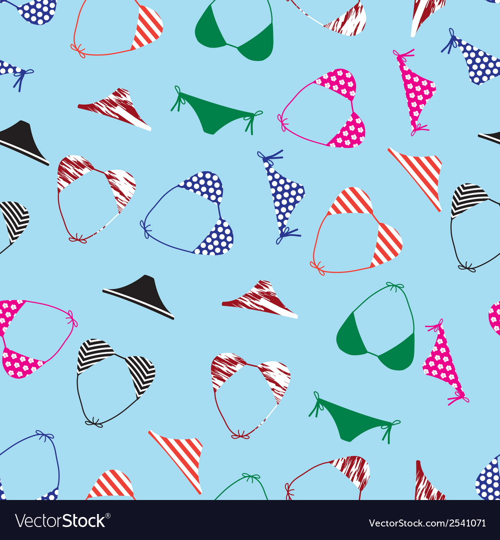 Bikini swimsuit pattern eps10 vector