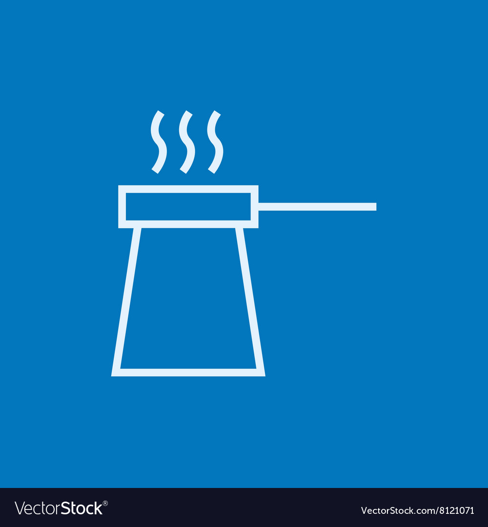Coffee turk line icon vector