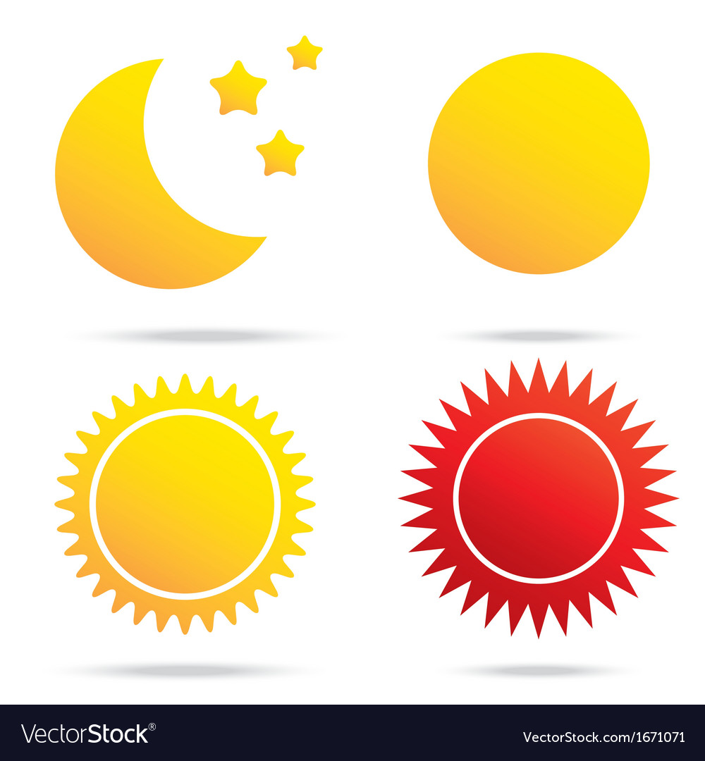Moon sun and star symbol vector