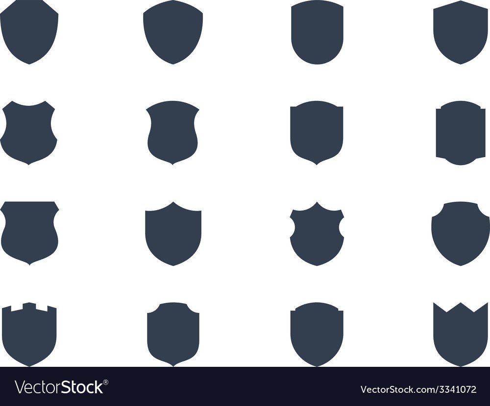 Shield shapes vector