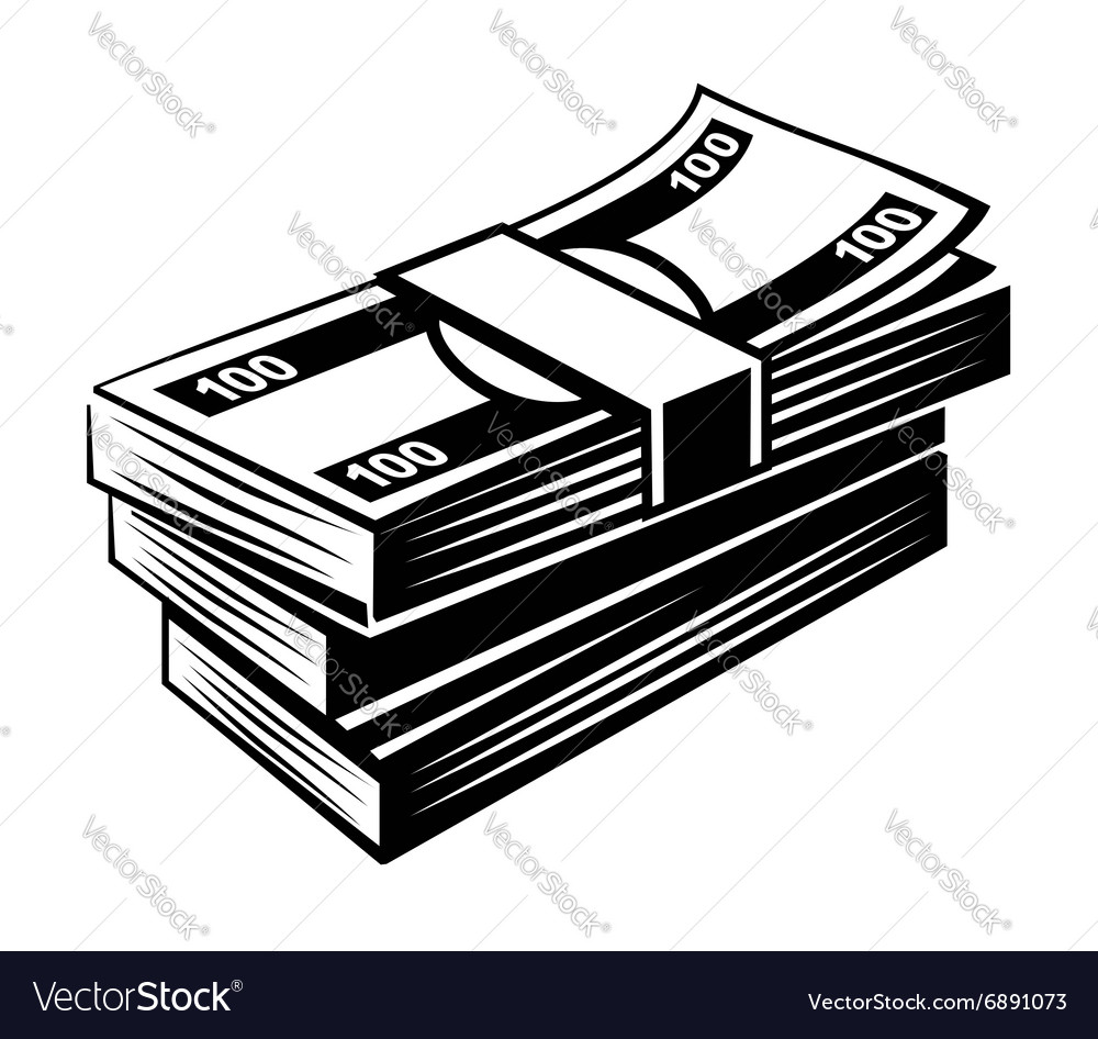 Black money vector