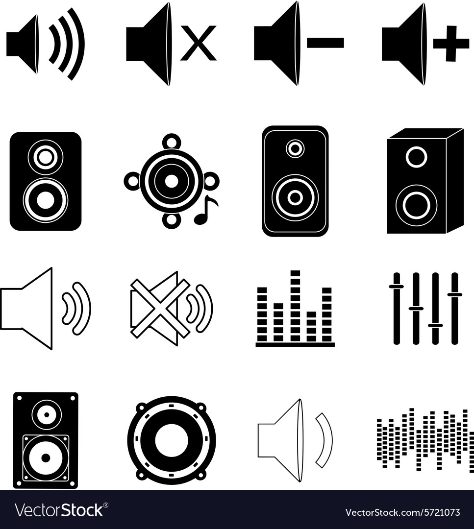 Music sound icons set vector