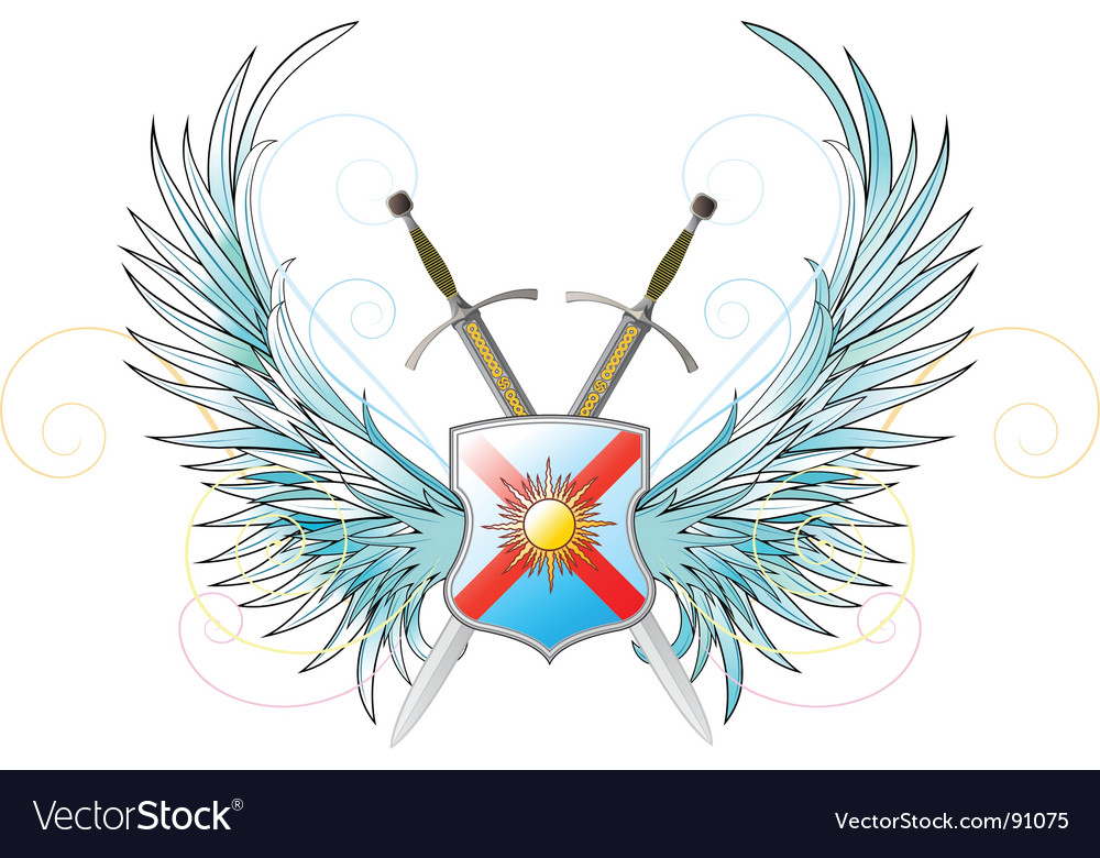 Crossed swords vector