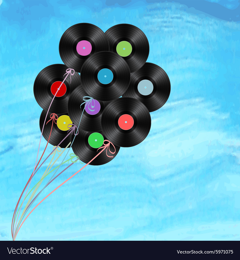 Vynil balloons vector