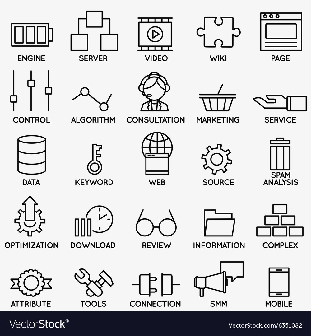 Set of seo and internet service icons  part 3 vector