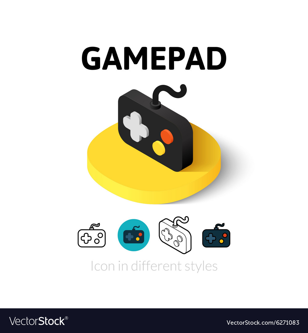 Gamepad icon in different style vector