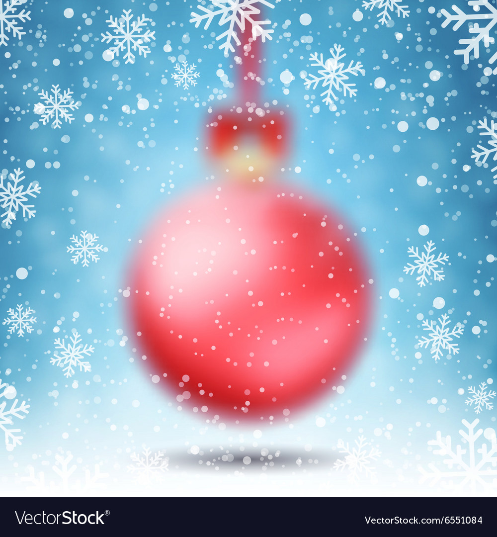 Blurred christmas ball vector