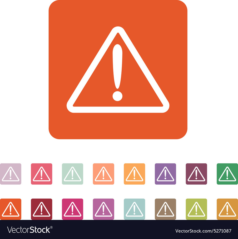 Attention icon danger symbol flat vector