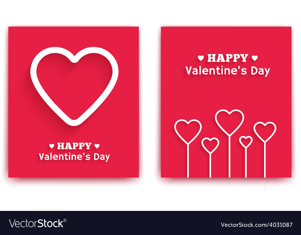 Valentines day greeting cards vector