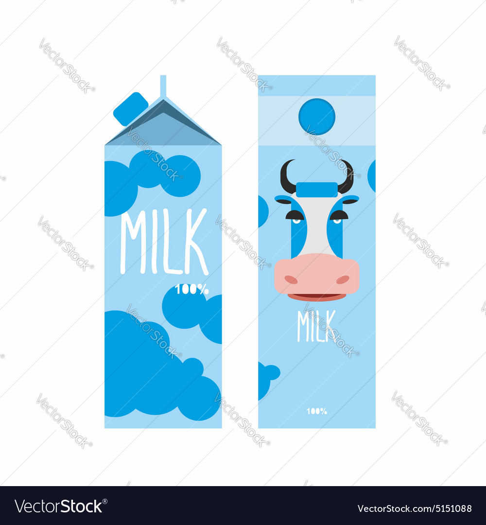 Packaging of milk template design package with vector