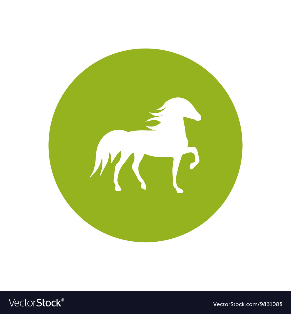 Stylish icon in color circle silhouette running vector