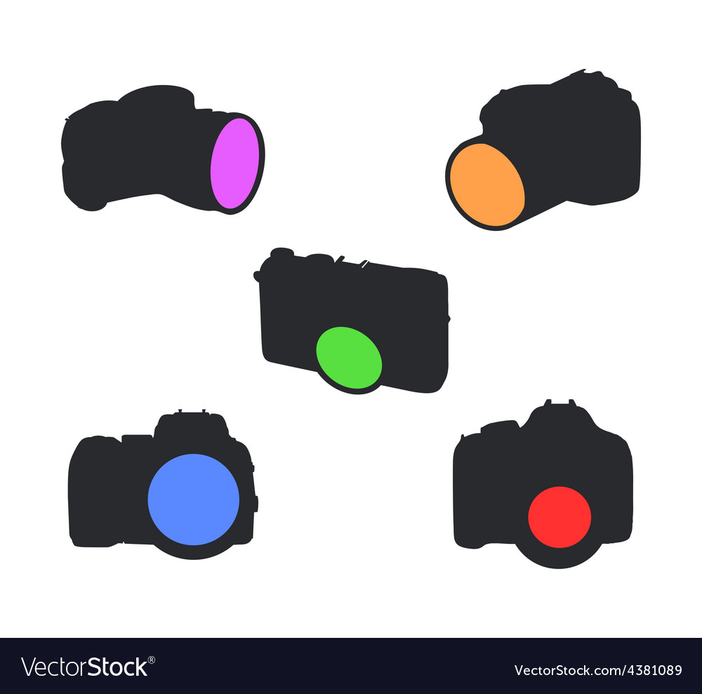 Icons of photocameras vector