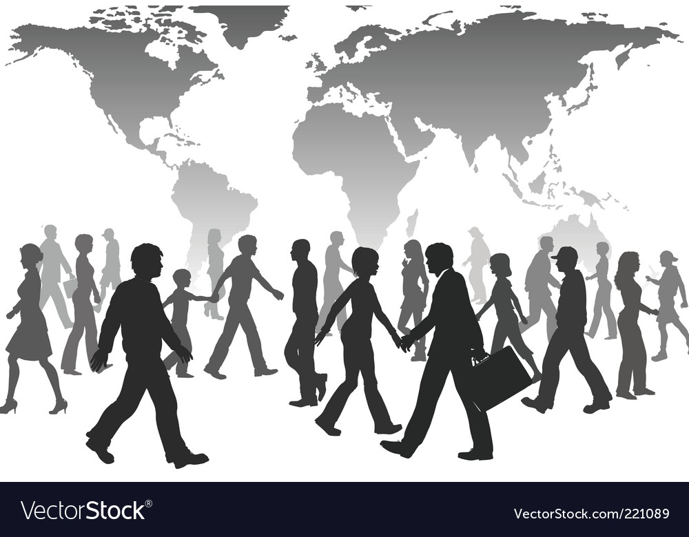 Population silhouettes vector