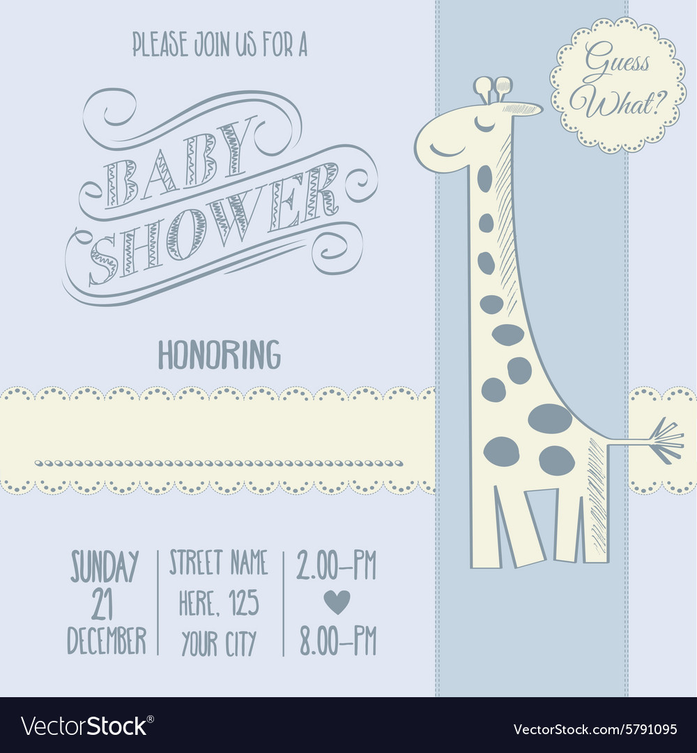 Baby boy shower card with retro toy vector