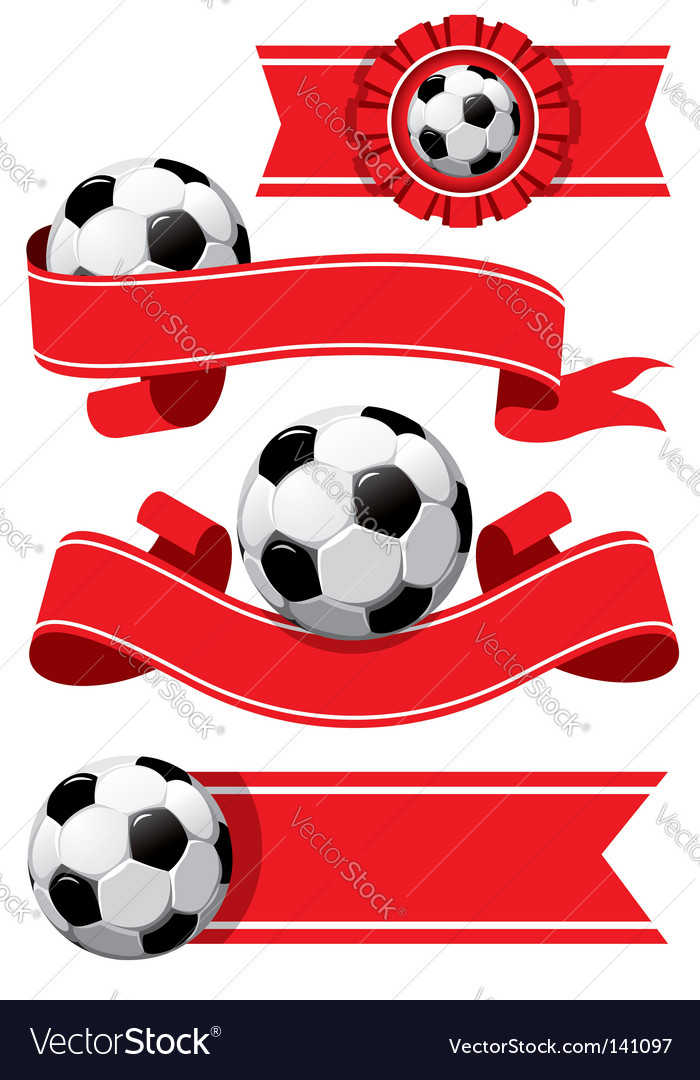Set of soccer design elements vector