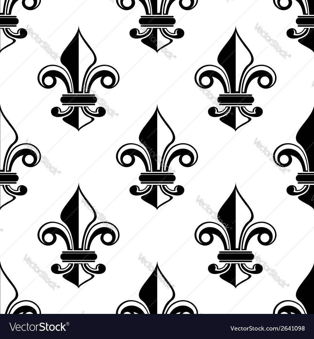 Classical french fleurdelis pattern vector