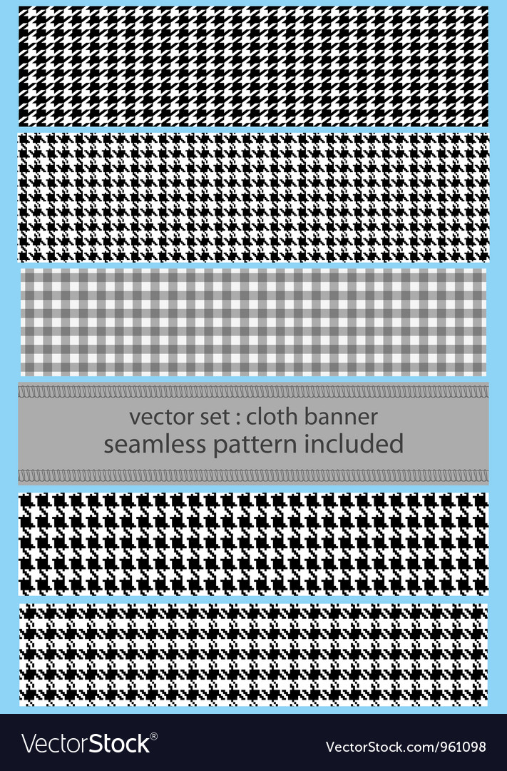 Houndstooth fabric banner vector
