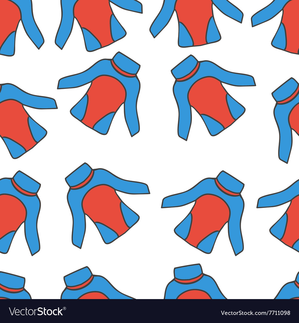 Seamless pattern with thermal underwear3 vector